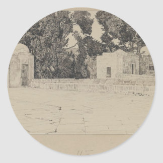 Rear of the Mosque of Omar by James Tissot Round Sticker