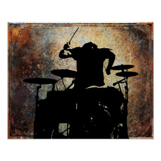 rear view Drummer, Copyright Karen J Williams Poster