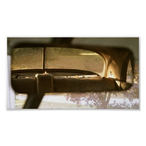 Rear view mirror poster