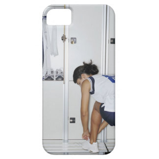Rear View of a Female Volleyball Player Tying Barely There iPhone 5 Case