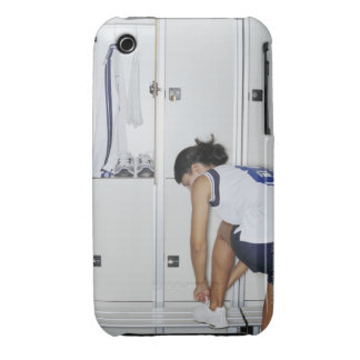 Rear View of a Female Volleyball Player Tying iPhone 3 Case-Mate Case
