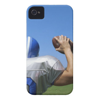 rear view of a football player throwing a iPhone 4 case