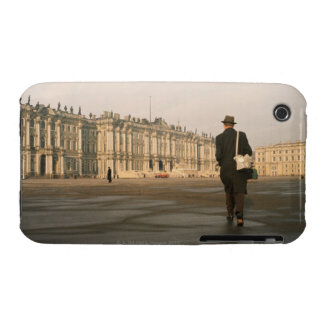 Rear view of a man walking in front of a palace, iPhone 3 Case-Mate cases