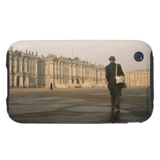 Rear view of a man walking in front of a palace, iPhone 3 tough cover