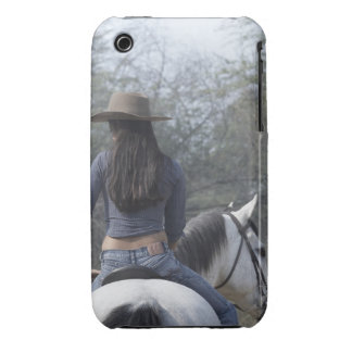 Rear view of a woman riding a horse iPhone 3 cover