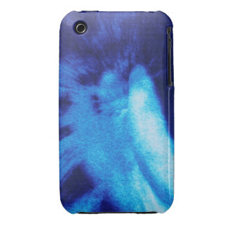 Rear view of angel sculpture, crackle finish iPhone 3 cover