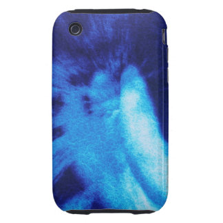 Rear view of angel sculpture, crackle finish iPhone 3 tough cover