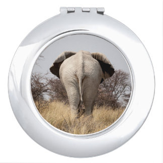 Rear view of elephant compact mirror