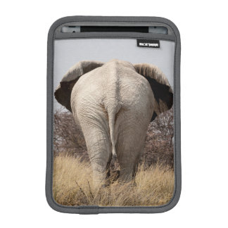 Rear view of elephant iPad mini sleeve