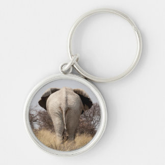 Rear view of elephant key ring