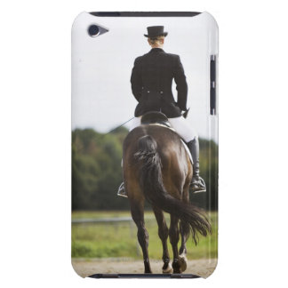 rear view of female dressage rider exercising barely there iPod cases