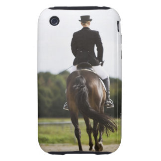 rear view of female dressage rider exercising iPhone 3 tough cover