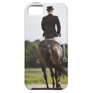 rear view of female dressage rider exercising tough iPhone 5 case