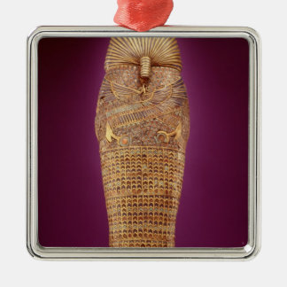 Rear view of one of the canopic coffins christmas ornament