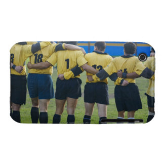 Rear view of rugby team standing with their arms iPhone 3 cover