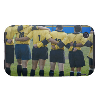 Rear view of rugby team standing with their arms iPhone 3 tough covers