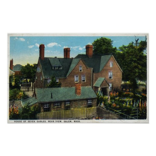 Rear View of the House of Seven Gables Poster