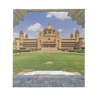 Rear view of Umaid Bhawan Palace hotel, Jodjpur, Notepad