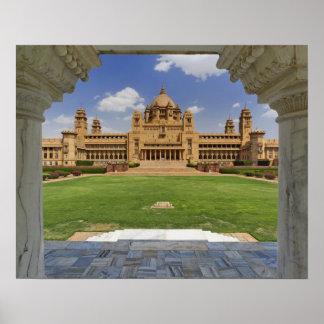 Rear view of Umaid Bhawan Palace hotel, Jodjpur, Poster