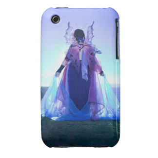 Rear view of woman wearing fairy costume iPhone 3 Case-Mate cases