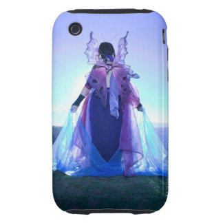 Rear view of woman wearing fairy costume iPhone 3 tough cover