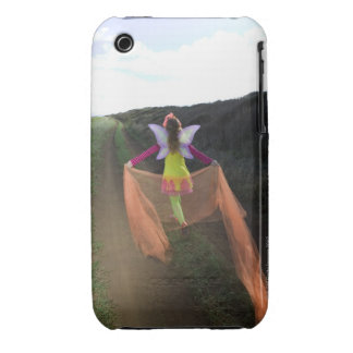 Rear view of woman wearing fairy costume walking iPhone 3 Case-Mate case