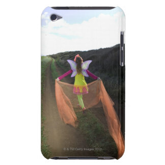 Rear view of woman wearing fairy costume walking iPod touch cases