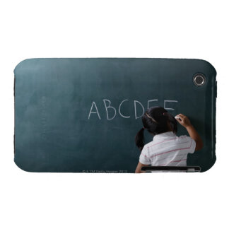 rear view of young girl writing on chalk board Case-Mate iPhone 3 cases