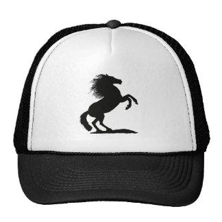 Rearing Black Stallion - Mesh Hats