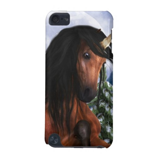 Rearing Chestnut Unicorn  iTouch Case iPod Touch (5th Generation) Case