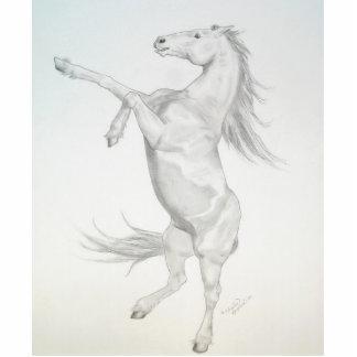 Rearing Horse Acrylic Sculpture Photo Cutouts