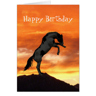 Rearing Horse Birthday Cards
