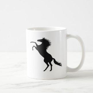 Rearing horse coffee mugs