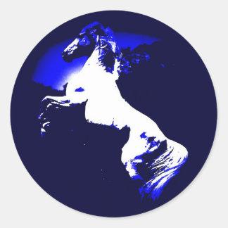 Rearing Horse Round Sticker
