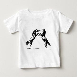 Rearing Horses Baby T-Shirt