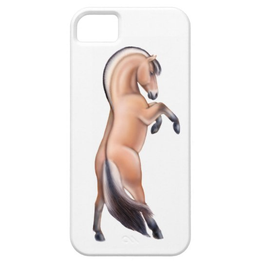 Rearing Norwegian Fjord Horse iPhone 5 Case