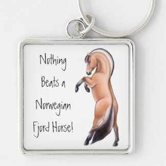 Rearing Norwegian Fjord Horse Keychain