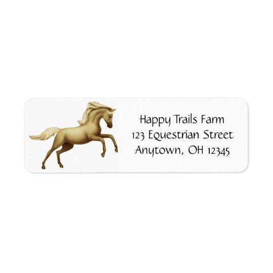 Rearing Palomino Horse Avery Label