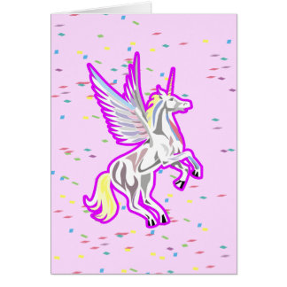 Rearing Unicorn Guardian Angel Card