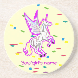 Rearing Unicorn Guardian Angel Coaster