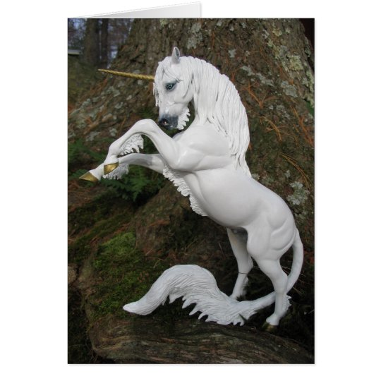 Rearing Unicorn Stallion Card