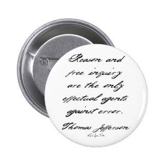 Reason by Jefferson 6 Cm Round Badge
