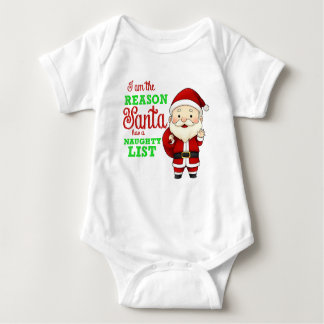 Reason for Santa's Naughty List Infant Creeper