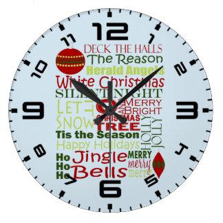 Reason To Tis The Season Large Clock