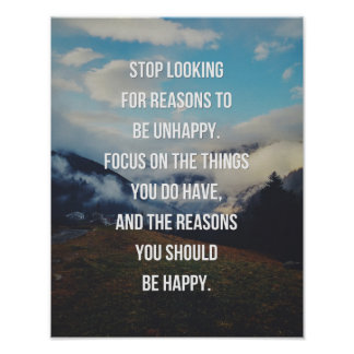 Reasons To Be Happy Quote Poster