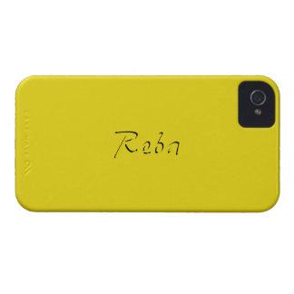 Reba Full Yellow iPhone 4 case