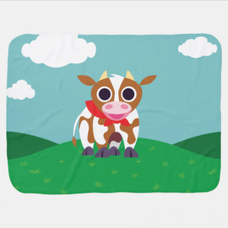 Reba the Cow Baby Blankets