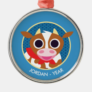 Reba the Cow Christmas Ornament