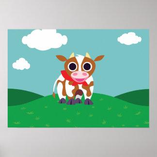 Reba the Cow Poster