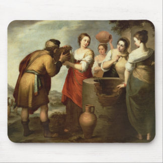 Rebecca and Eliezer at the Well, c.1665 Mouse Pad